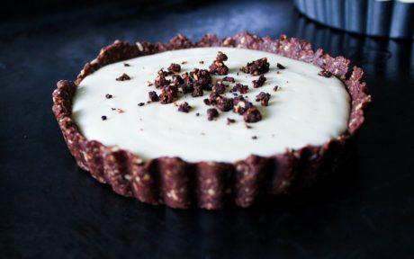 Vegan Gluten-Free Oreo Cheesecake Tartlet With Chocolate Ganache Drizzle