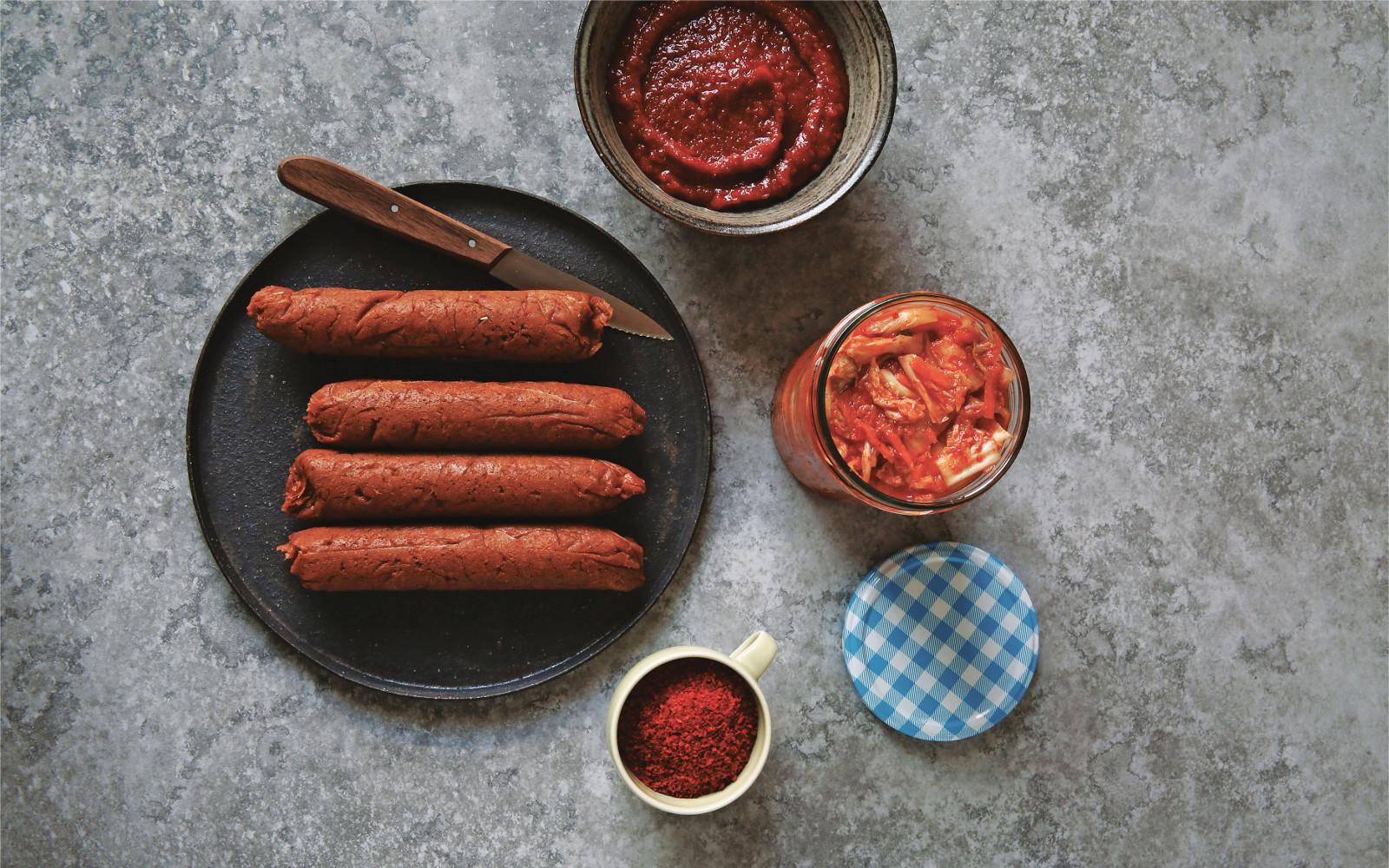 Gochujang Kimchi Sausages copy