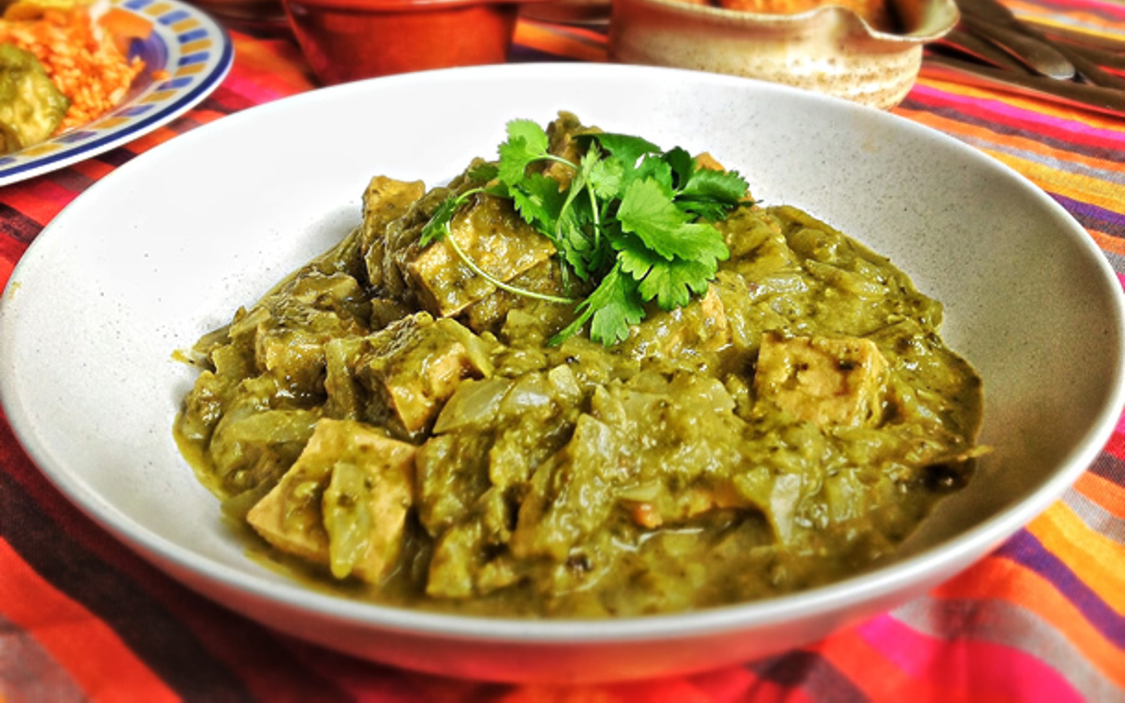 Mexican Green Chili With Tofu