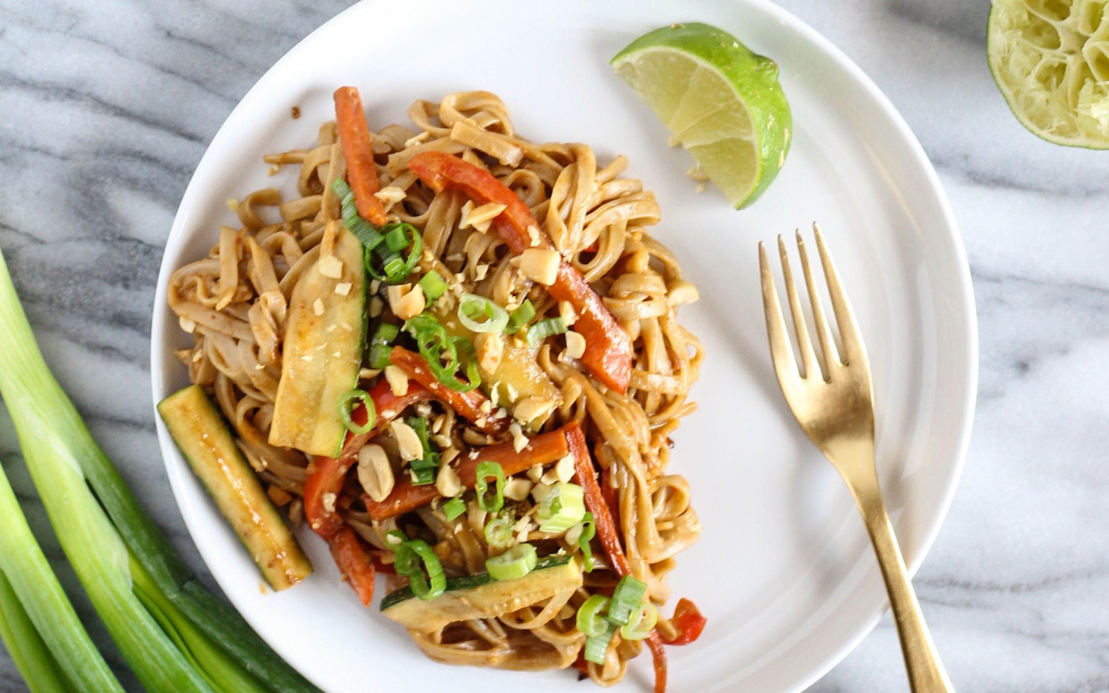 Miso Vegetable Pad Thai