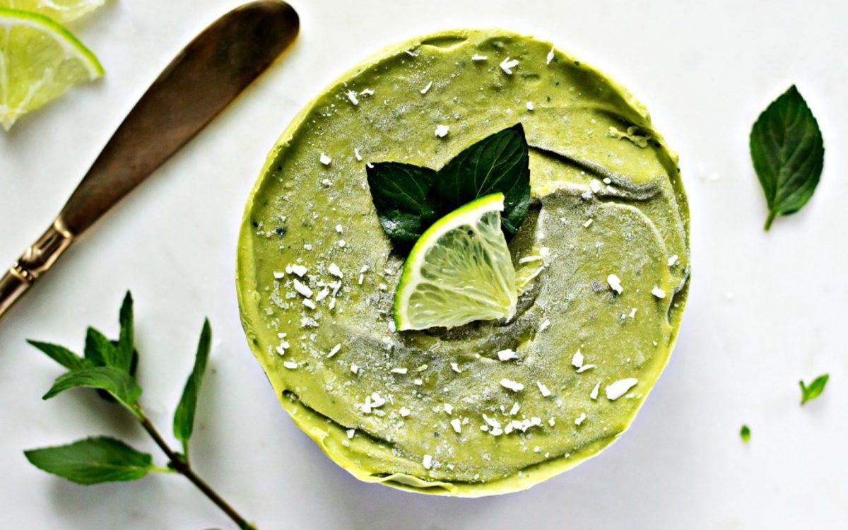 Vegan Frozen Mini Mojito No Bake Tart