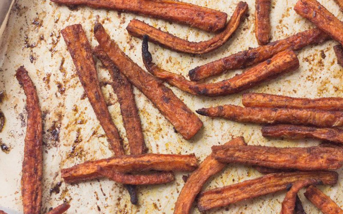 Vegan Spiced Carrot Fries