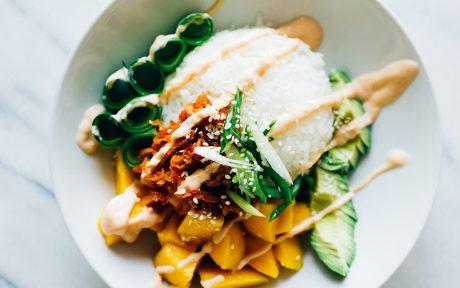 Summer Kimchi Vegan Sushi Bowl