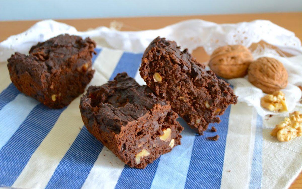 Vegan Dark Chocolate Brownies With Zucchini and Walnuts