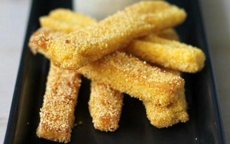 Polenta Fries Made With Aquafaba [Vegan, Gluten-Free]