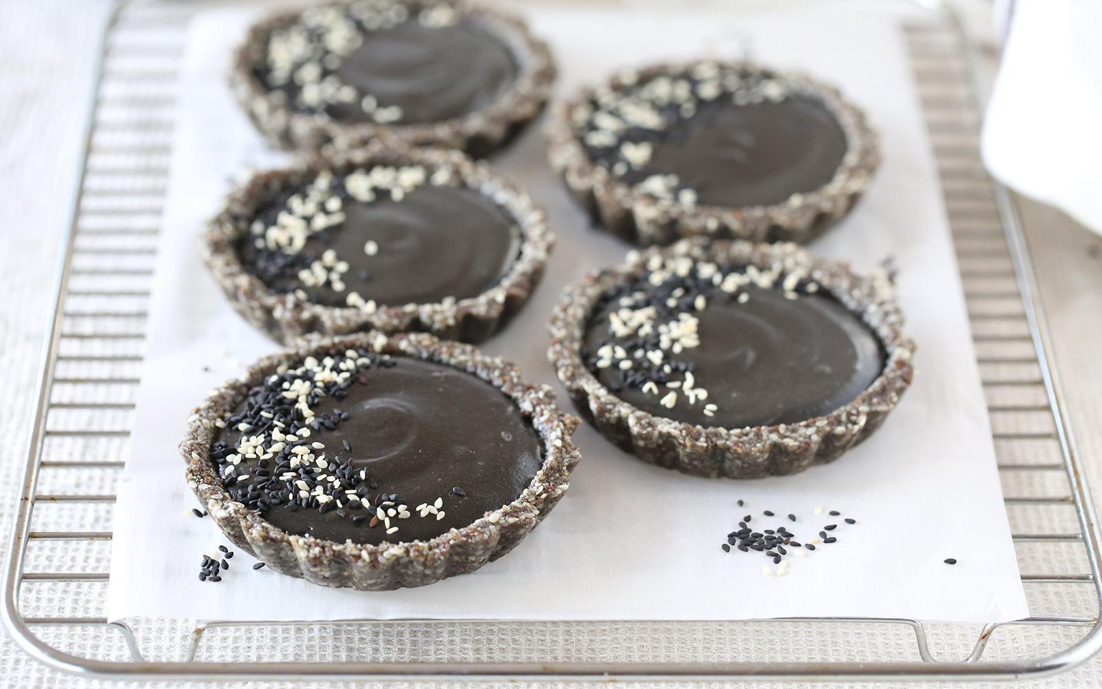 Midnight Black Sesame Tarts