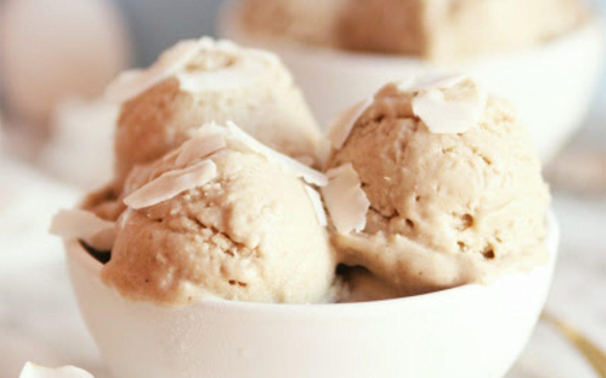 Vegan Piña Colada Coconut Nice Cream