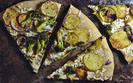 Vegan Whole Wheat Sourdough Pizza Crust