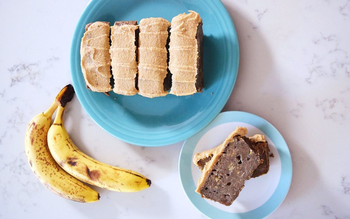 Flourless Banana Bread With Cream Cheese Frosting