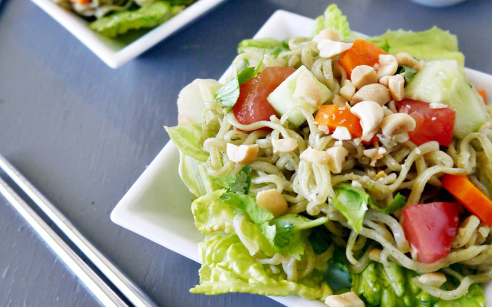 Zucchini-Ramen Noodle Salad