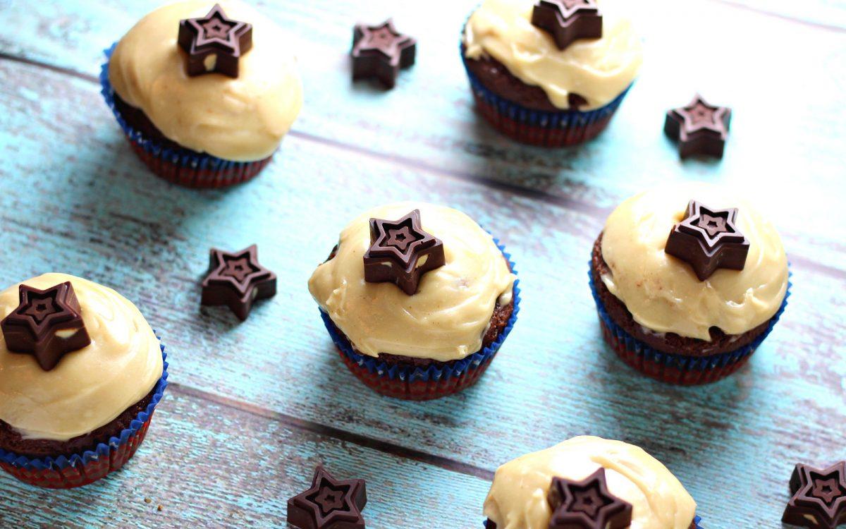 Chocolate Cashew Butter Cupcakes With Homemade Gluten-Free Flour Blend
