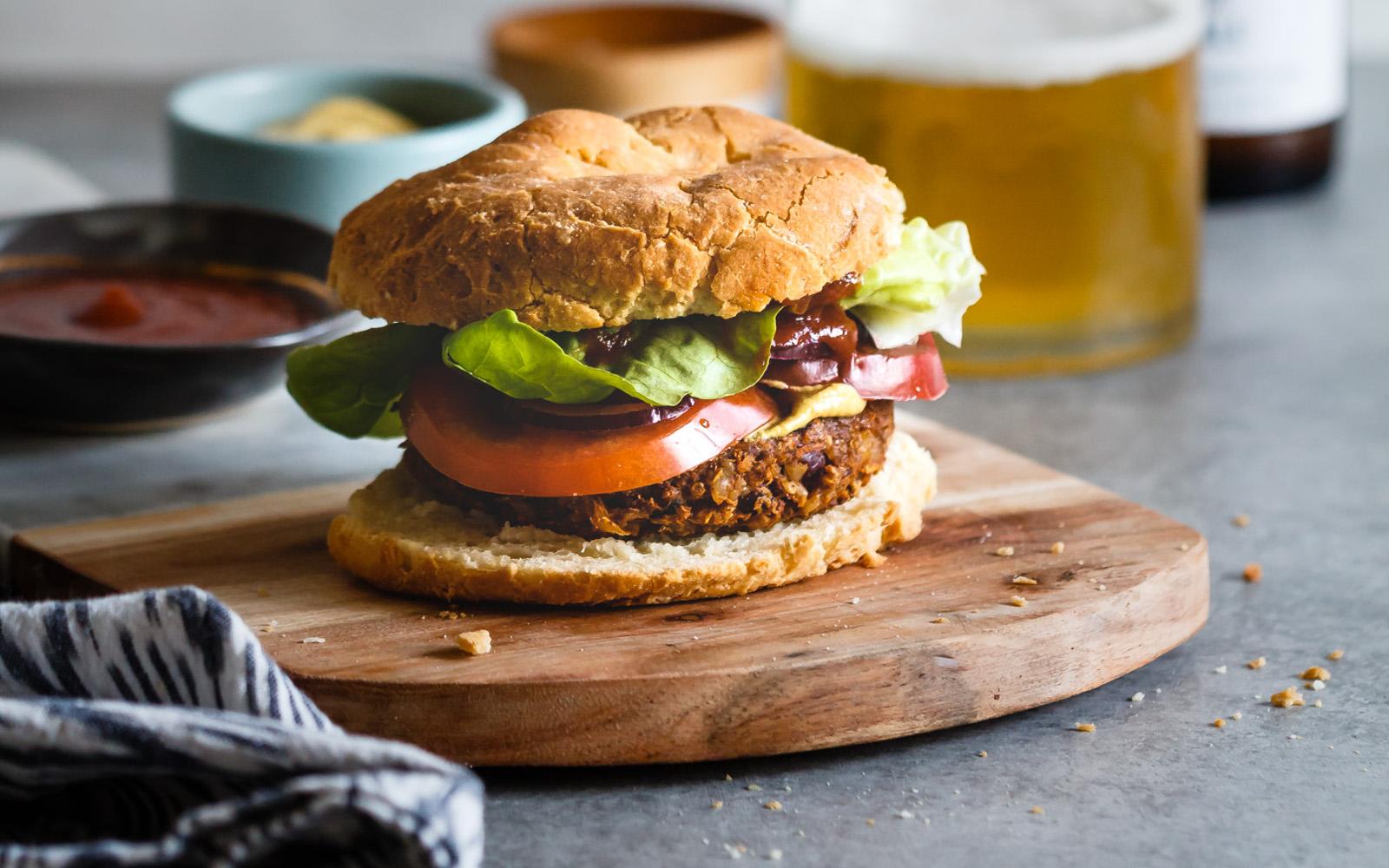 Ultimate grillable veggie burger