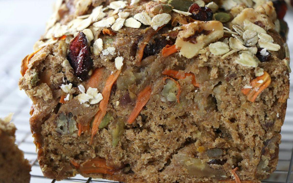 Vegan Nut and Fruit Breakfast Loaf