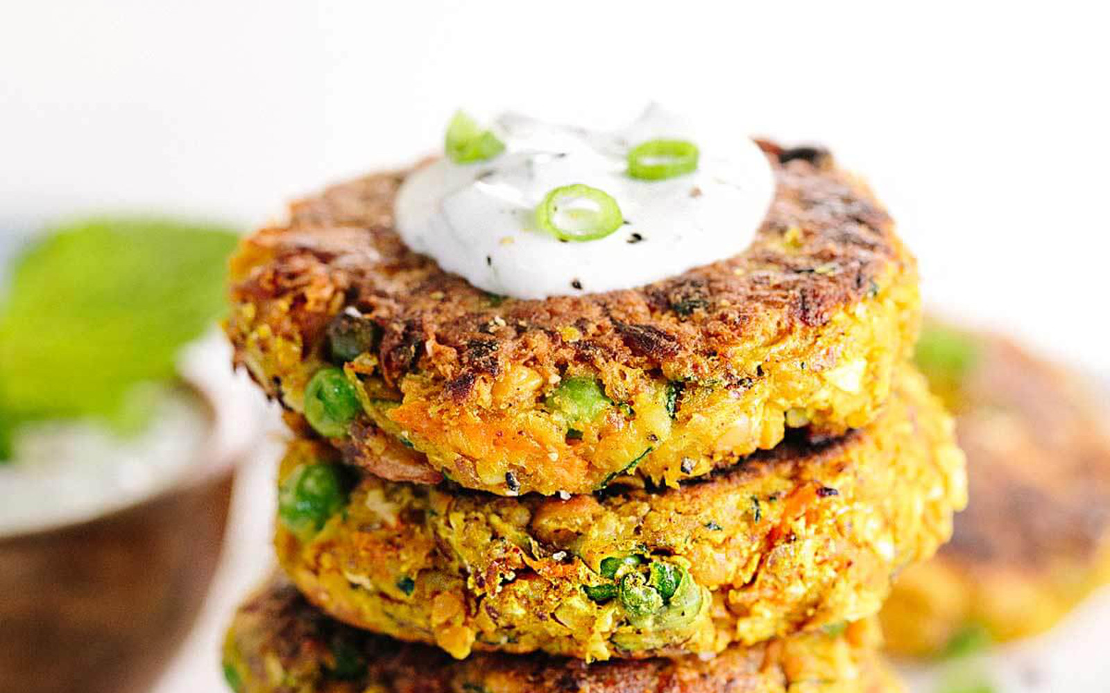 Indian-Spiced Chickpea and Vegetable Cakes