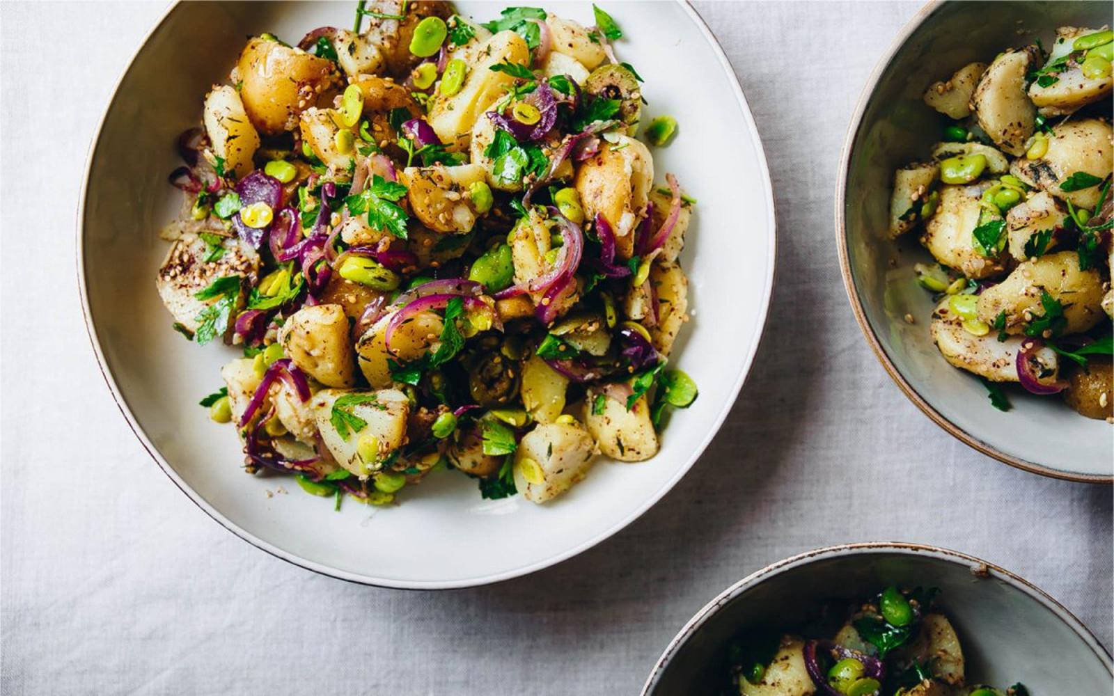 Fava Beans and Za'atar Potato Salad