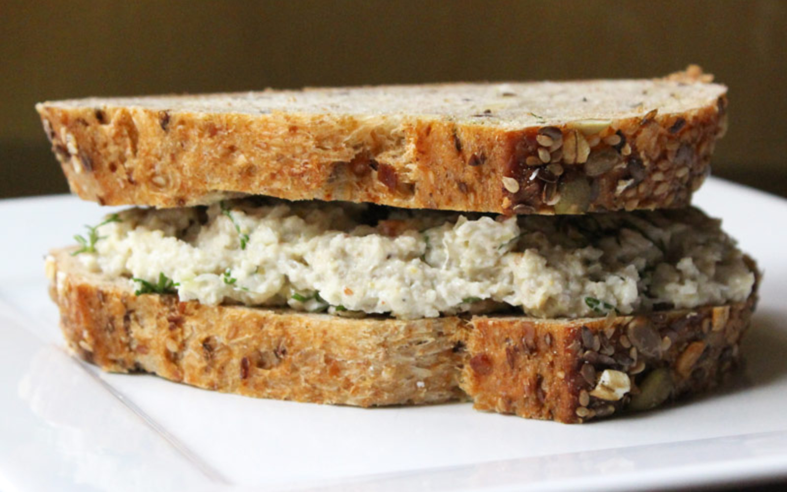 Vegan Grain-Free Sauerkraut, Sunflower Seed, and Cashew 'Tuna' Fish