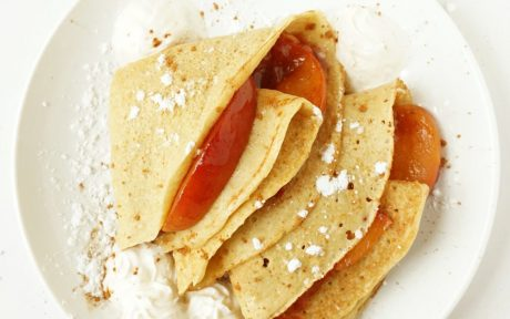 Peaches and Cream Crêpes [Vegan]