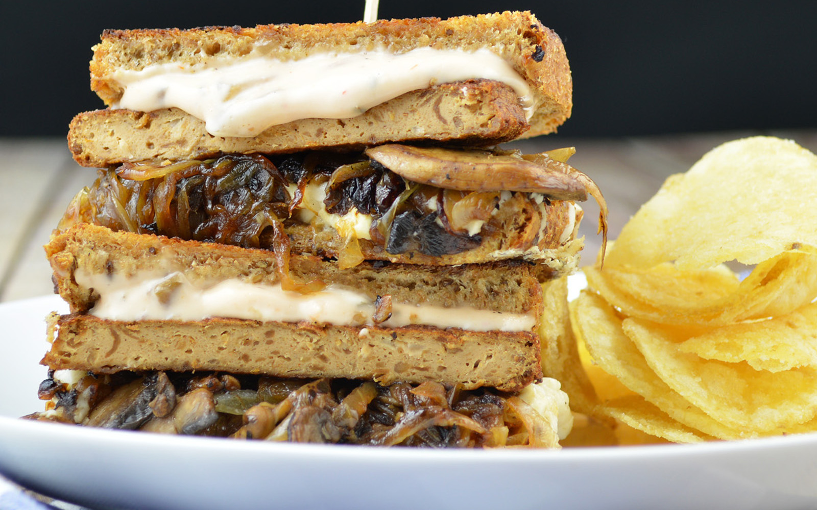 Vegan Premium Patty Melt With Mushrooms and Special Sauce