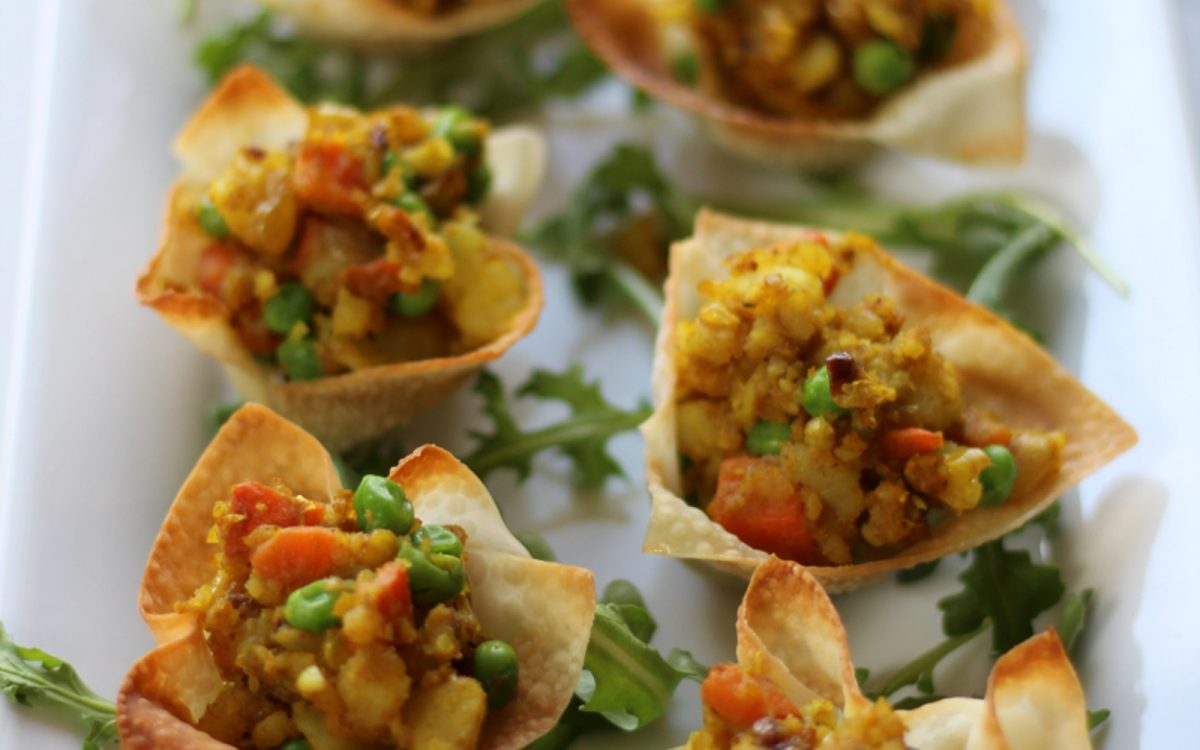 Vegan Baked Potato Samosa Cups