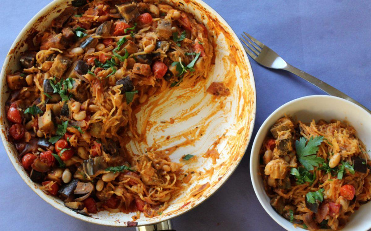 Sabich Spaghetti Squash