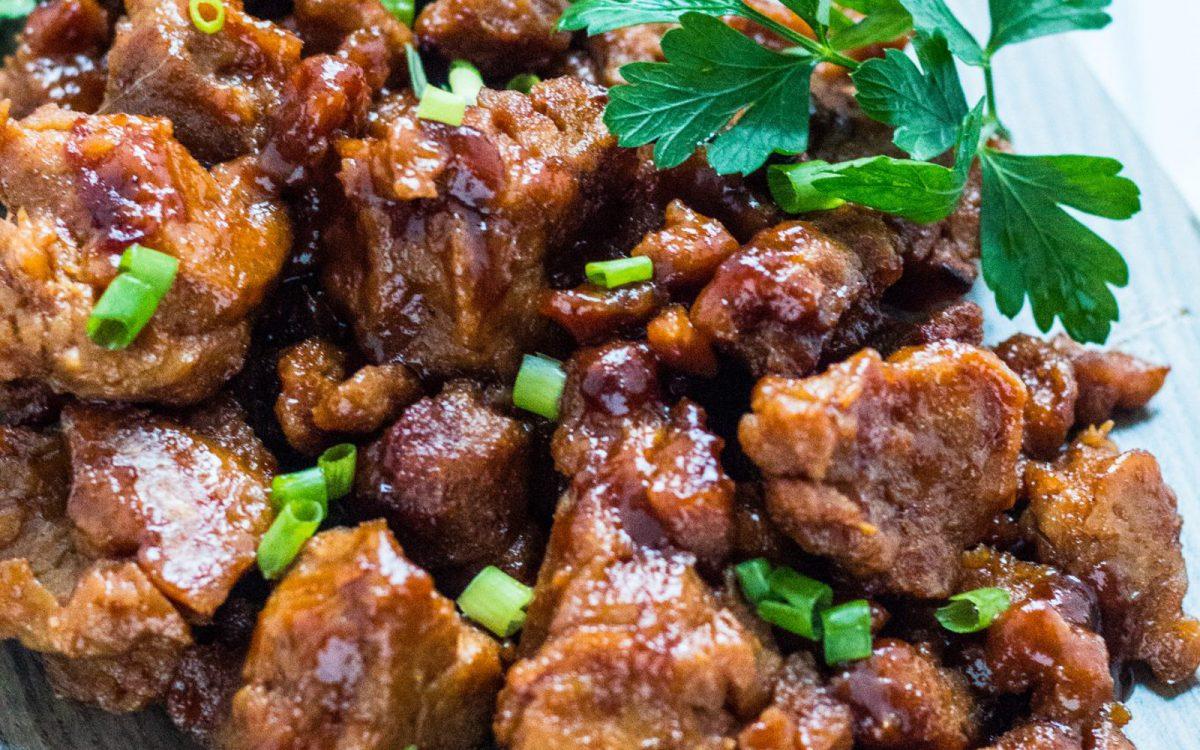 Vegan Root Beer BBQ Seitan 'Wings'
