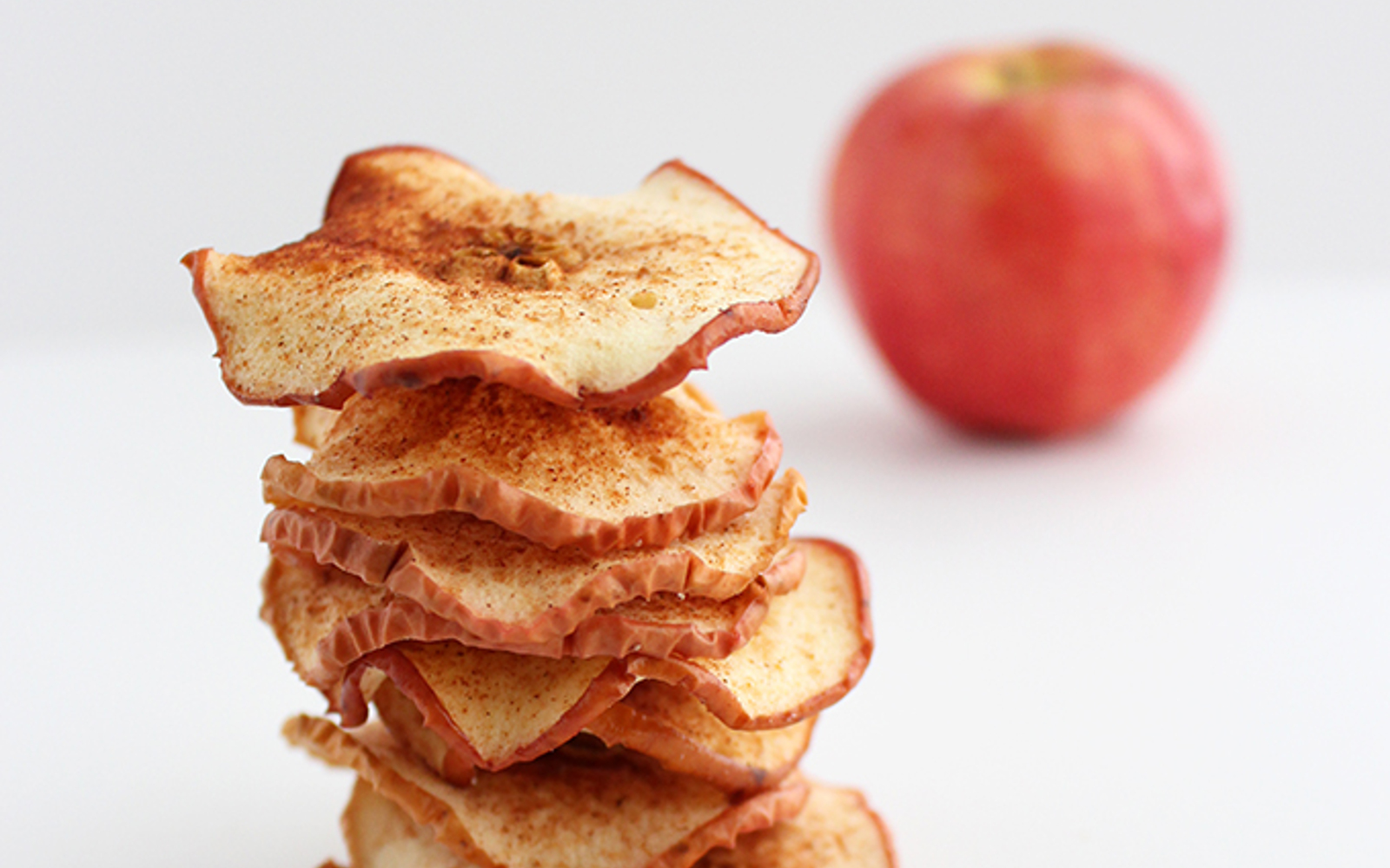 Vegan Grain-Free Baked Cinnamon Apple Chips