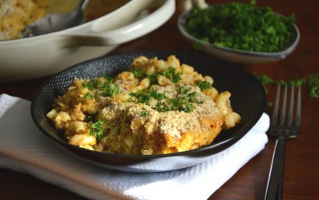 Butternut cauliflower mac and cheese