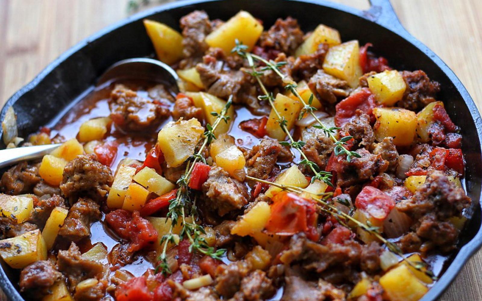 'Meat' and Potato Casserole