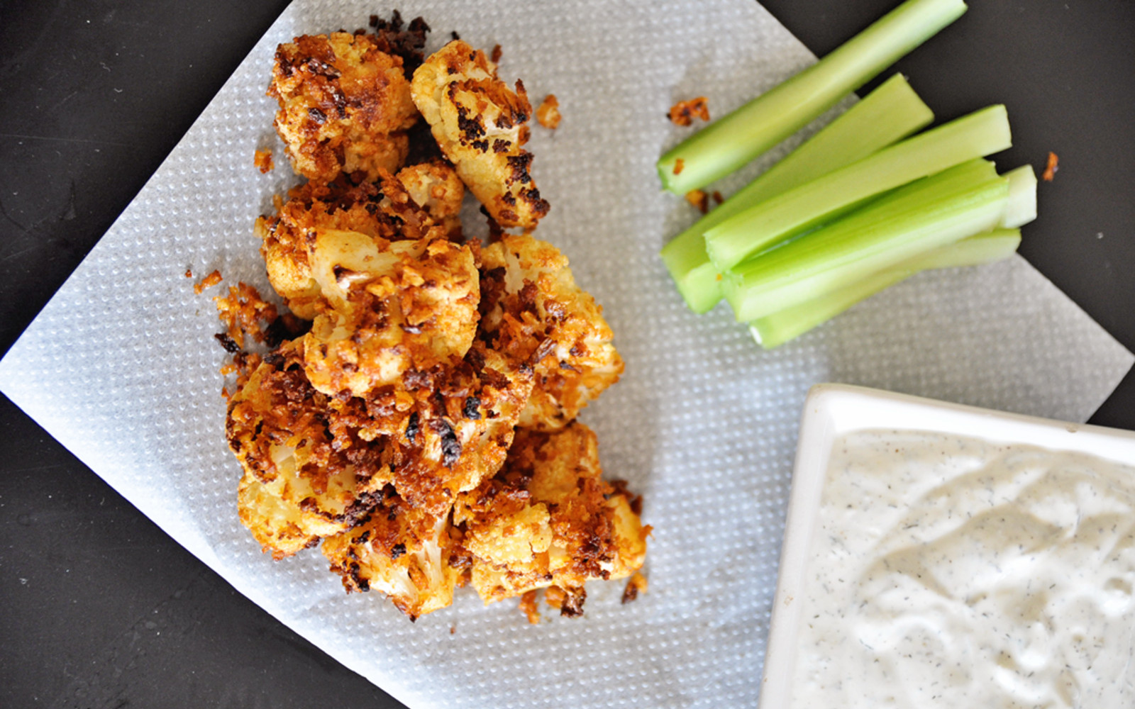 Cauliflower Buffalo Wings With Ranch Dipping Sauce