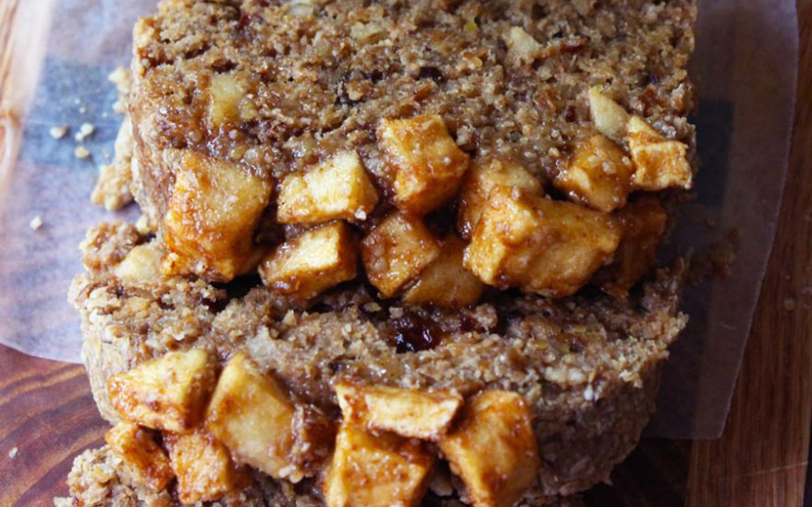 Vegan Raw Cinnamon Apple Bread