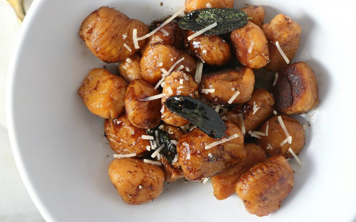 Vegan Sweet potato gnocchi