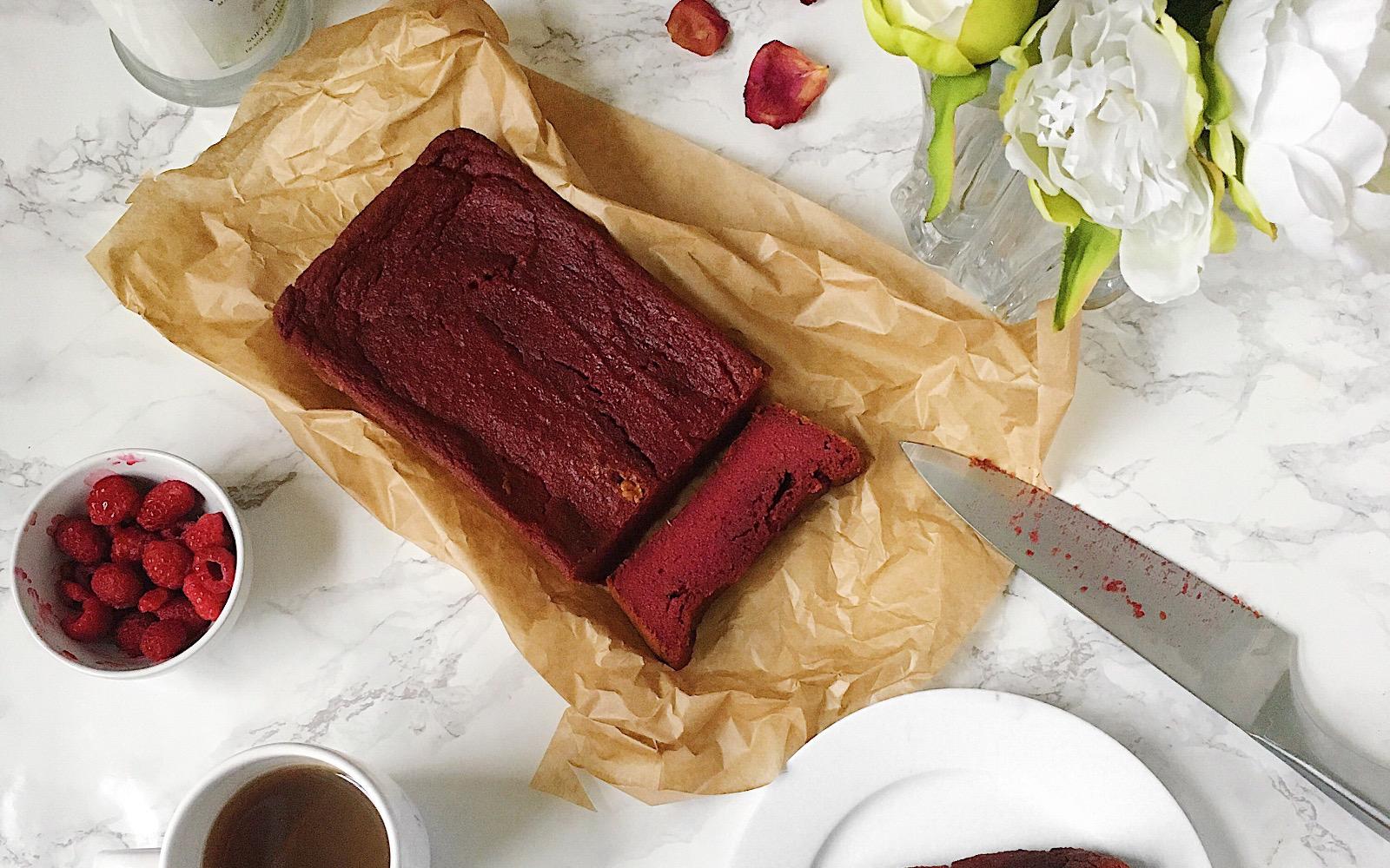 Vegan Grain-Free Red Velvet Banana Bread