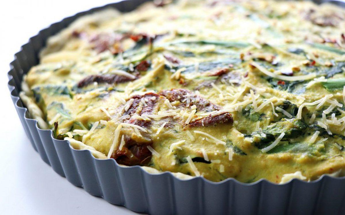 Italian Spinach and Tomato Quiche