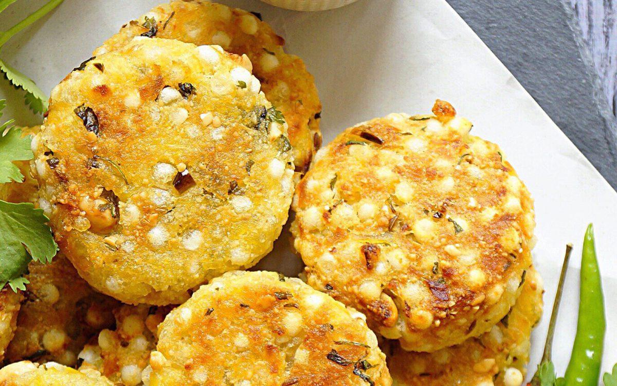 Vegan Baked Sabudana Vada: Indian Tapioca Fritters