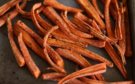 Oil-Free Roasted Carrot Fries