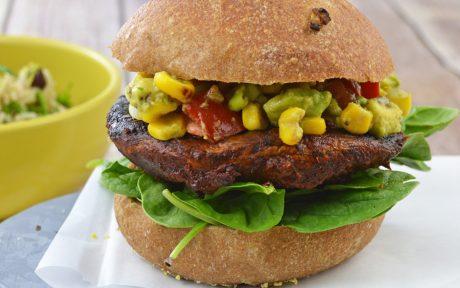 Portobello Adobo Burger