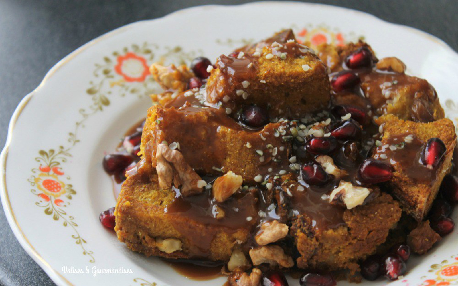 Pumpkin French Toast Casserole With Maple Whiskey Caramel
