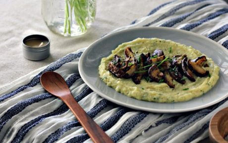 Vegan Gluten-Free Roasted Shiitake With Celeriac Potato Purée