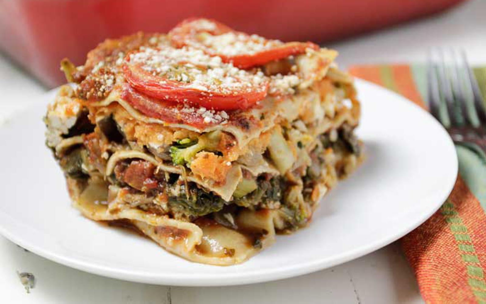 Sweet Potato Veggie Lasagna Vegan One Green Planetone Green Planet