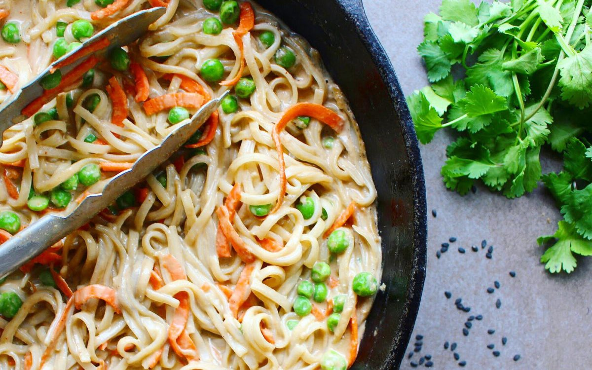 Vegan nut-free thai noodles