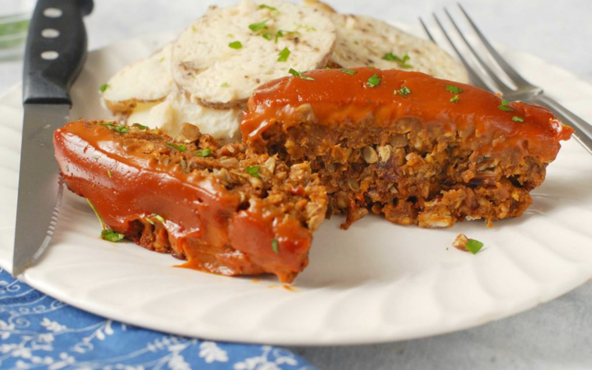 Lentil Loaf With Tomato Glaze