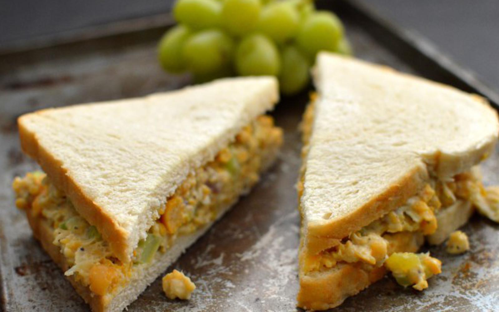 Vegan GLuten-Free Chickpea 'Tuna' Fish Sandwich high-protein