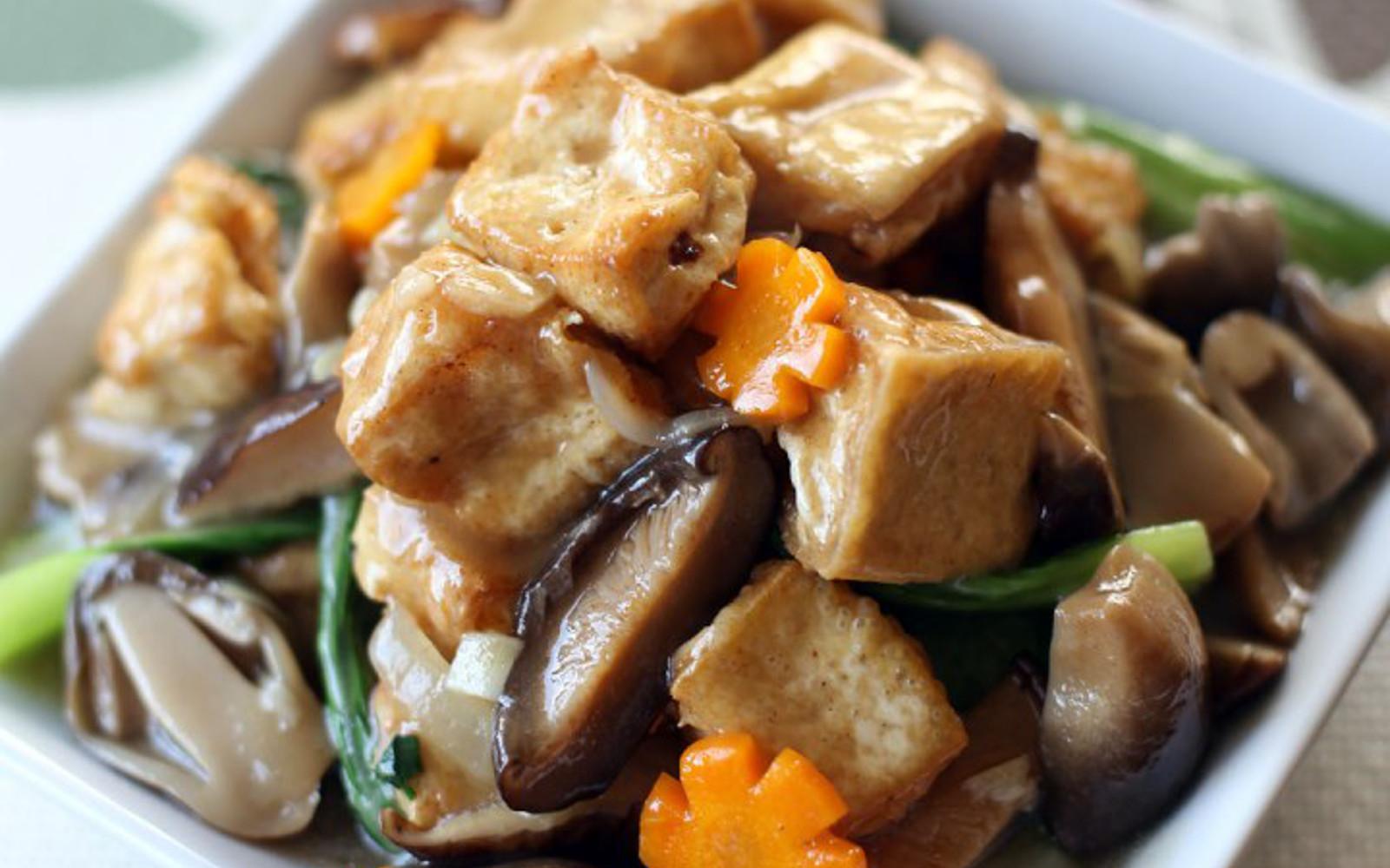 Chinese Braised Tofu and Veggie Stir Fry
