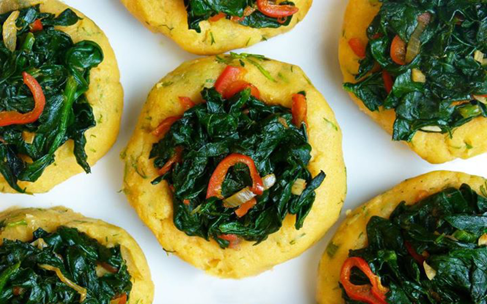 Vegan Grain-Free Spinach and Pepper Potato Bowls