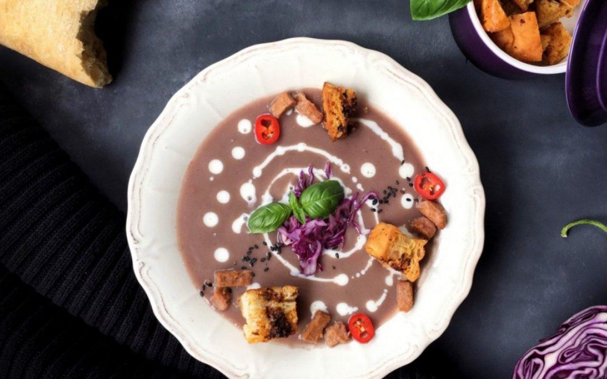 Vegan Purple Cauliflower Soup