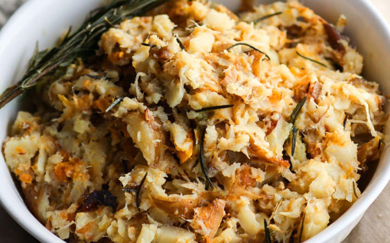 Vegan Gluten-Free Slow Cooker Rosemary Carrot Parsnip Mash