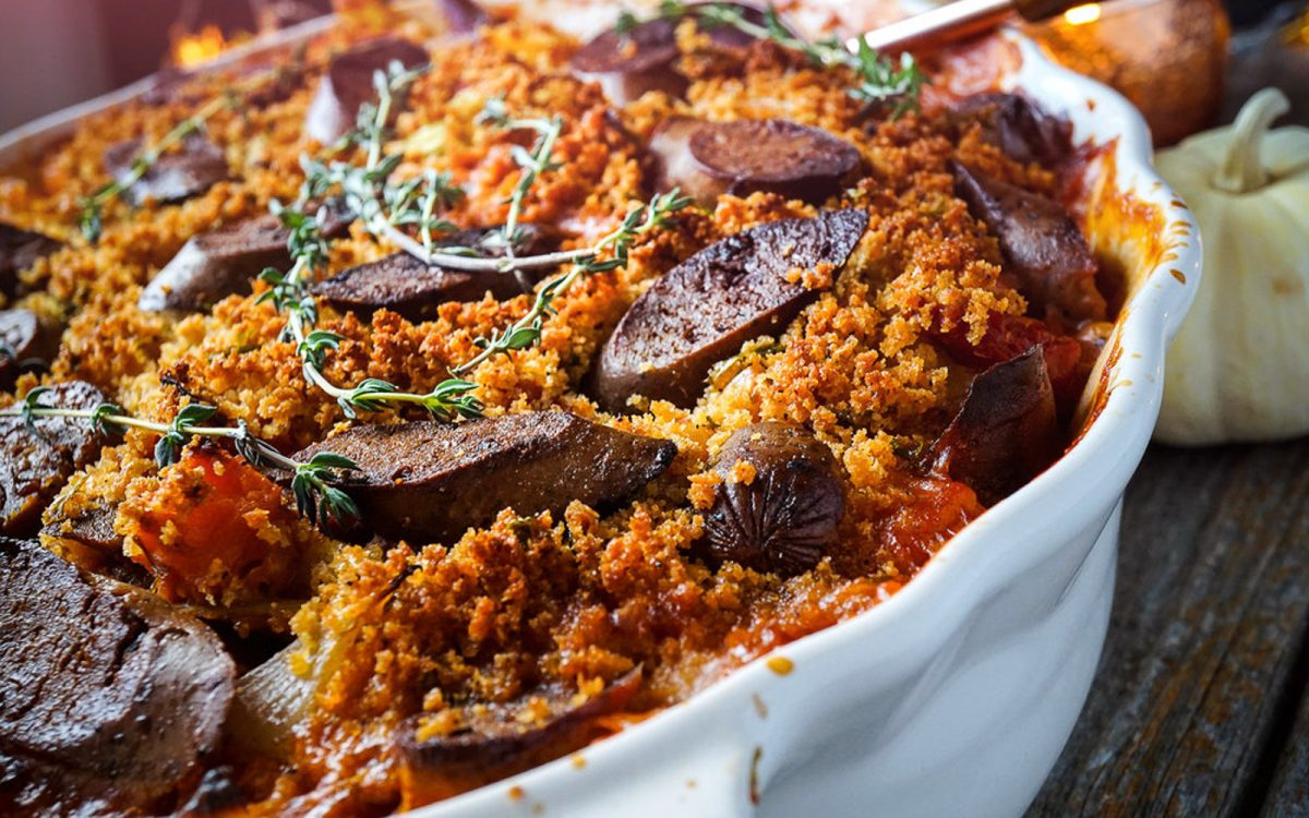 Rustic Cassoulet With Veggie Sausage