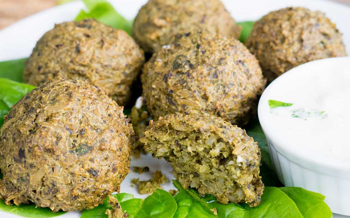 Vegan High Protein Spinach and Rice Balls