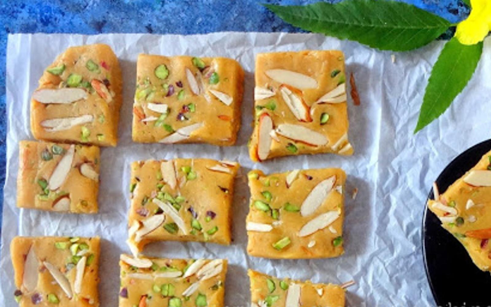 Besan Barfi (Chickpea Flour Fudge)