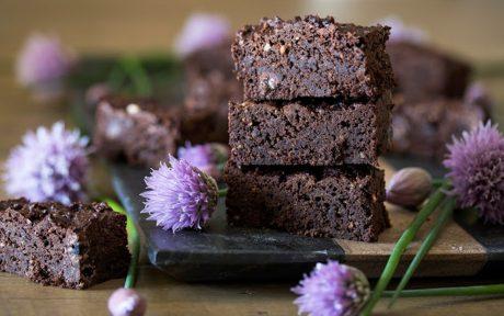 Vegan Dark Chocolate Peanut Butter Brownies